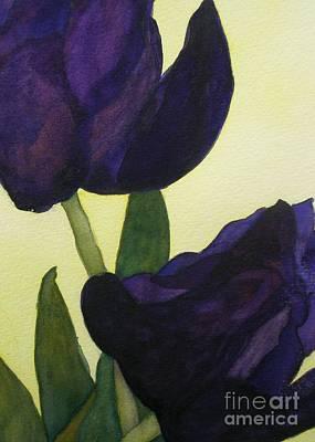 Purple Tulip Painting - Purple Tulips by Jeff Friedman