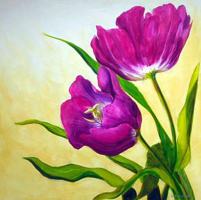 Purple Tulips Art Print by Scott Gordon