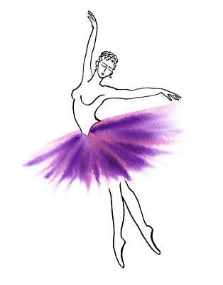 Painting - Purple Tutu by Irina Sztukowski