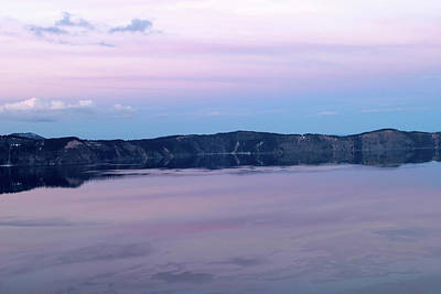 Photograph - Purple Twilight At Crater Lake National Park, Oregon by Robert Mutch
