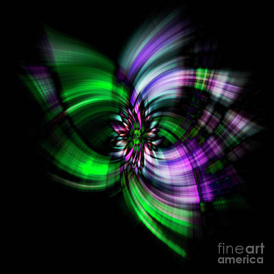 Digital Art - Purple Twirl by Kim Andelkovic