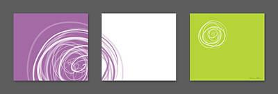 Purple Twirl Art Print by Nomi Elboim