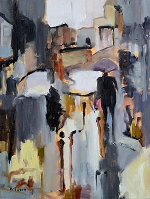 Painting - Purple Umbrella by Donna Tuten