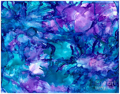 Painting - Purple Urchins by Cathlyn Driscoll