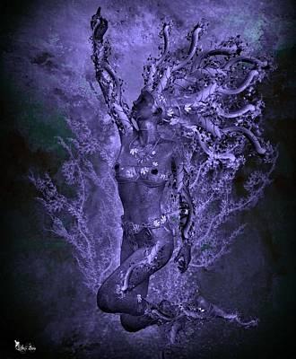Nudes Digital Art - Purple Vines  by Ali Oppy