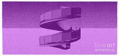 Home Decoration Mixed Media - Purple Vintage Stair 52 by Pablo Franchi