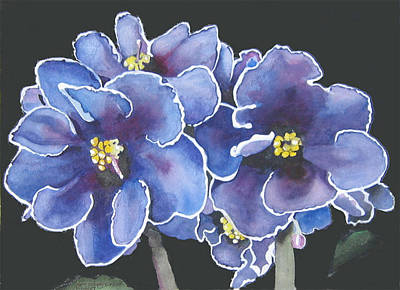 Painting - Purple Violet by Jean Sumption