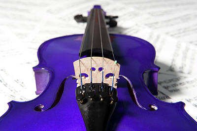 Photograph - Purple Violin And Music Ix by Helen Northcott