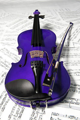 Photograph - Purple Violin And Music Xi by Helen Northcott