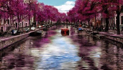 Painting - Purple Water by Johanne Dauphinais