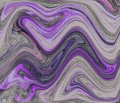 Purple Waves Art Print by Iris Gelbart