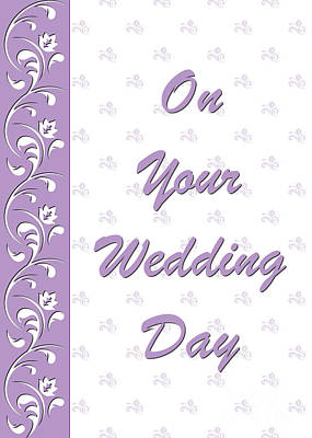 Digital Art - Purple Wedding Deco by JH Designs