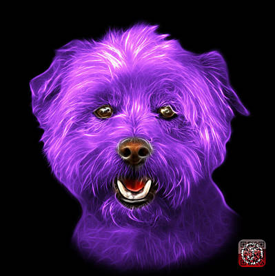 Mixed Media - Purple West Highland Terrier Mix - 8674 - Bb by James Ahn