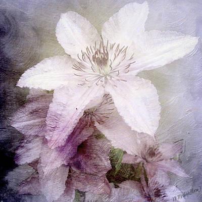 Digital Art - Purple Whisper by M Montoya Alicea