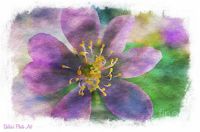 Photograph - Purple Wildflower - Digital Effect by Debbie Portwood