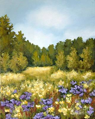 Painting - Purple Wildflower Fields by Inese Poga