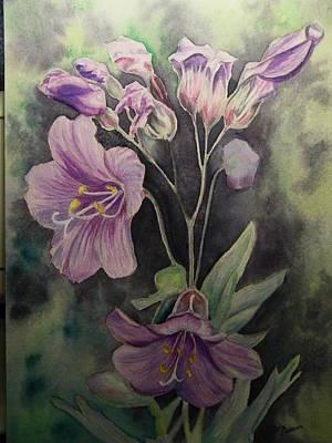 Painting - Purple Wildflowers by Dale Jackson