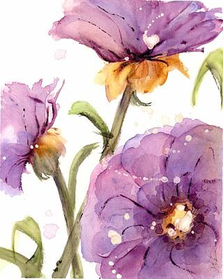 Painting - Purple Wildflowers II by Dawn Derman