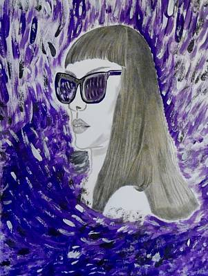 Mixed Media - Purple Wind by Nicole Burrell