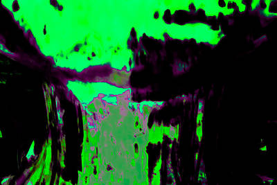 Digital Art - Purple Wisp And Lime Splash by Samantha Thome