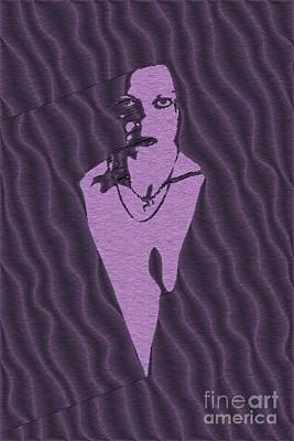 Islam Digital Art - Purple Woman by Pierre Blanchard
