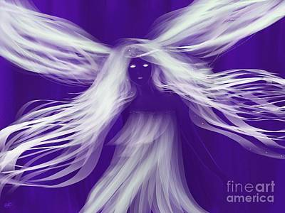 Purple Woods Faerie Art Print