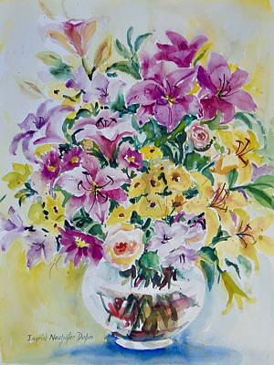 Painting - Purple Yellow by Ingrid Dohm