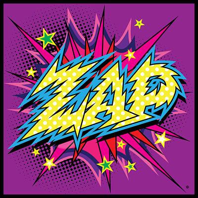 Digital Art - Purple Zap by Gary Grayson