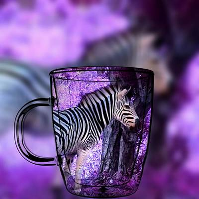 Digital Art - Purple Zebra by Vijay Sharon Govender