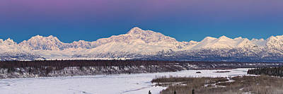 Winter Scenes Photograph - Purples Blue by Ed Boudreau