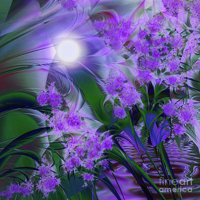 Abstract Purple Painting - Purplescape by Mindy Sommers