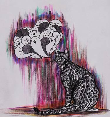 Creative Lovers Art Drawing - Purrfect by Luq Saf Azri Luqman