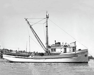 Photograph - Purse Seiner City Of Monterey At Monterey Dec. 24, 1937 by California Views Mr Pat Hathaway Archives