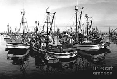 Photograph - Purse Seiner Juanita And Western Star Circa 1949 by California Views Mr Pat Hathaway Archives