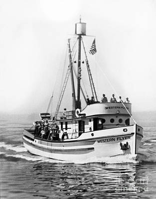 Photograph - Purse Seiner Western Flyer On Her Sea Trials Washington 1937 by California Views Archives Mr Pat Hathaway Archives