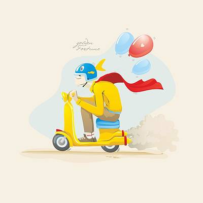 Pursuit Of Happiness Print by Sergey Ponkratov