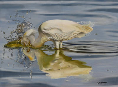 Waterfowl Painting - Pursuit by Phyllis Beiser