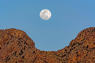 Photograph - Pusch Ridge Full Moon H1826 by Mark Myhaver