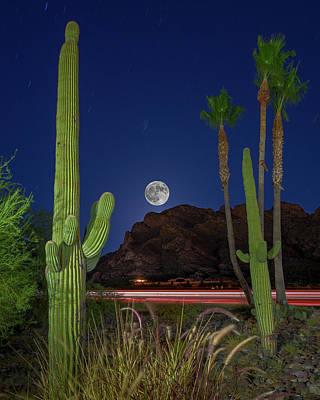 Photograph - Pusch Ridge Full Moon V30 by Mark Myhaver