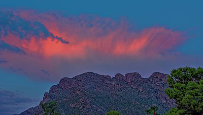 Photograph - Pusch Ridge Sunset 1844 by Mark Myhaver