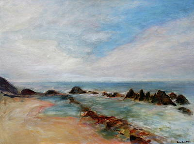 Painting - Push And Pull - Scenic Seascape Painting by Quin Sweetman