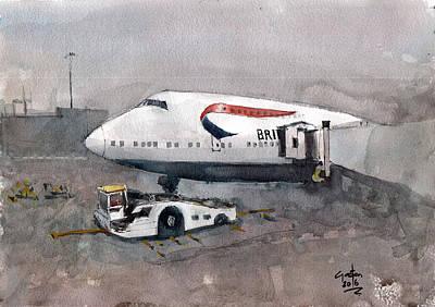 Painting - Push Back 747 Style London by Gaston McKenzie