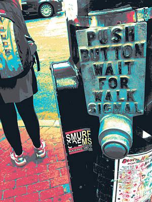 Push Button Art Print