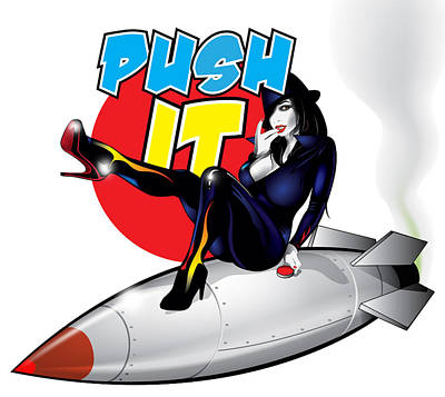 Digital Art - Push It by Brian Gibbs