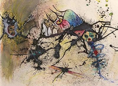 Painting - Push by Jeff Barrett