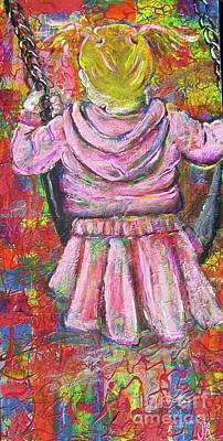 Push Me Daddy Art Print by Jacqueline Athmann