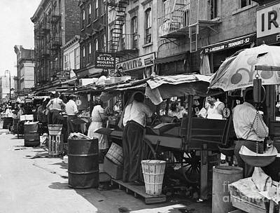Brooklyn Storefronts Photograph - Pushcart Market, 1939 by Granger