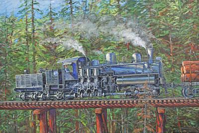 Logging Painting - Pushin' by Gary Symington