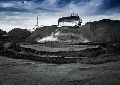 Photograph - Pushing Coal by M G Whittingham