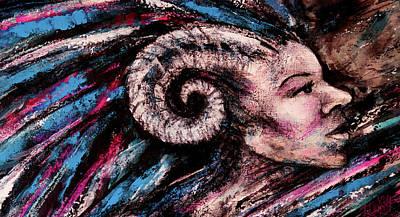 Pushing On Art Print by Zoe Oakley